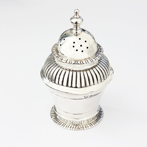 antique silver victorian pepper shaker dated 1885 hallmarked sheffield