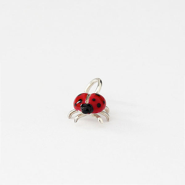 silver and enamel ladybird charm very small