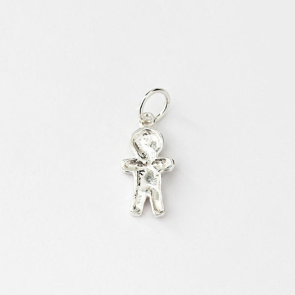 gingerbread charm set in sterling silver