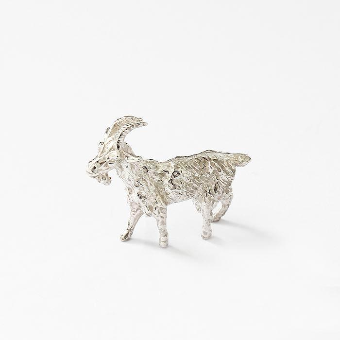 a sterling silver goat figure model with a full british hallmark