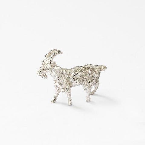 a sterling silver goat ornament model with a full british hallmark