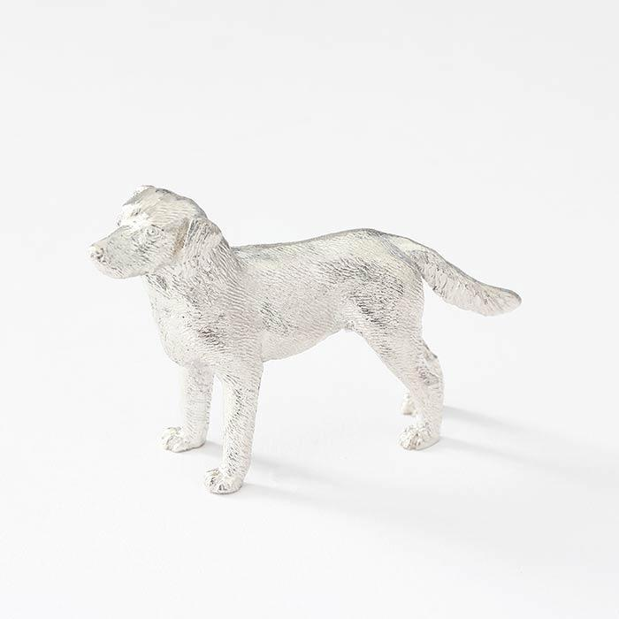 a wonderful sterling silver labrador dog ornament all british made with hallmark