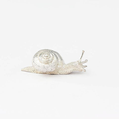 sterling silver snail ornament with a full british hallmark