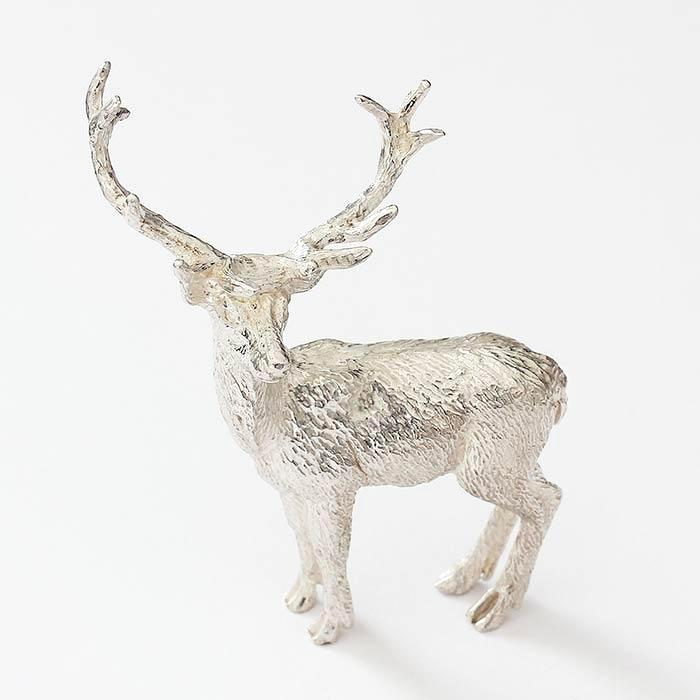 a fine quality solid silver stag ornament all british made