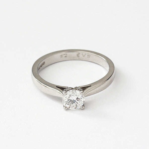 a diamond set 4 claw engagement ring set in platinum