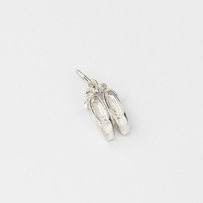 silver ballerina shoes charm