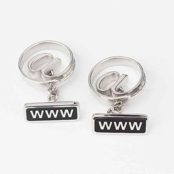 sterling silver internet sign cufflinks with enamel