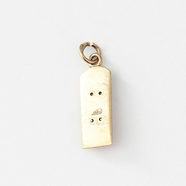 a 9ct yellow gold thermometer charm secondhand