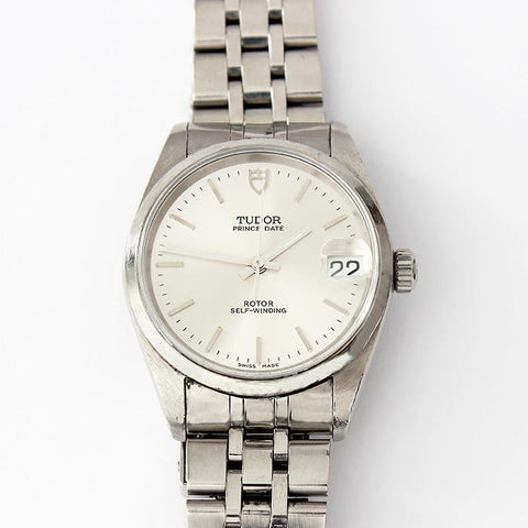 a preowned gents tudor stainless steel watch prince date rotor self winding watch and original box