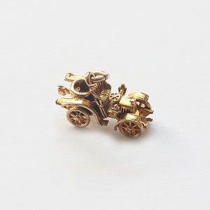 9ct Yellow Gold Small Vintage Car Charm - Secondhand