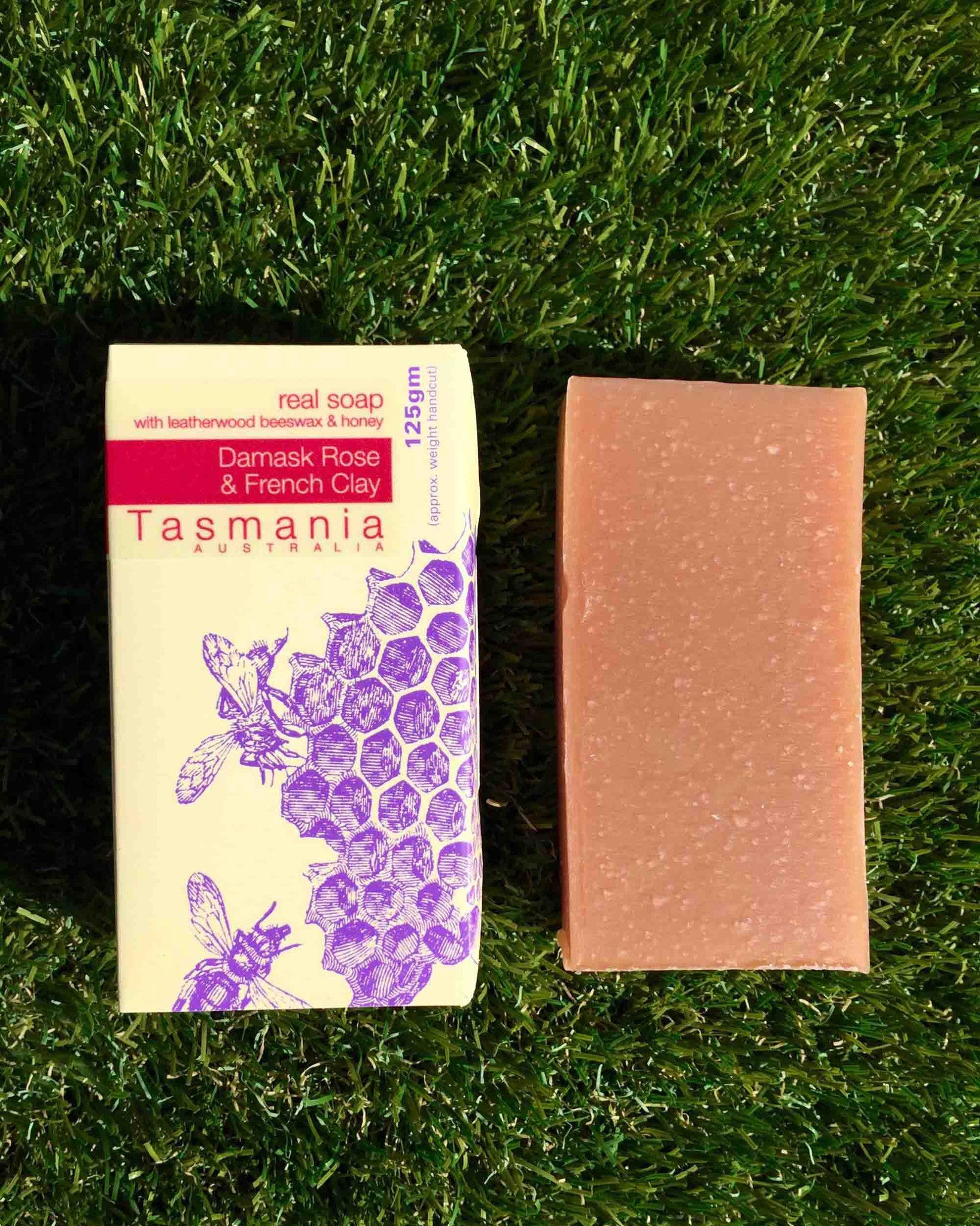 Honey Soap - Damask Rose French Clay with Leatherwood Beeswax 蜂蜜梘 - 大馬士革玫瑰礦物泥革木蜂蠟
