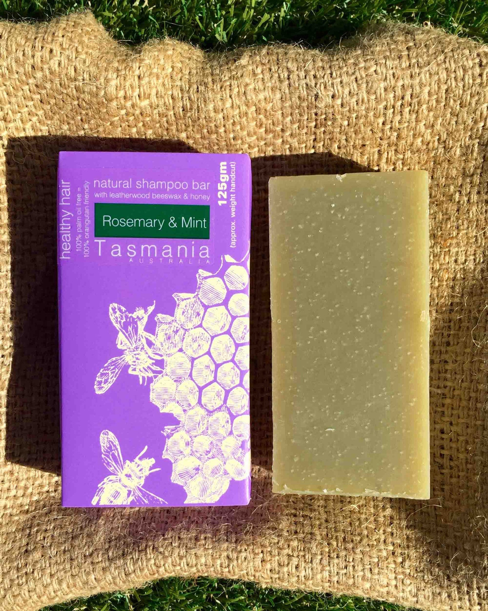 Honey Shampoo Bar - Rosemary and Mint with Leatherwood Beeswax 蜂蜜洗髮梘 - 迷迭香薄荷革木蜂蠟