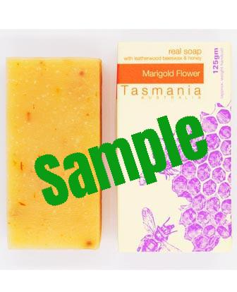 Sample Honey Soap - Marigold Flower with Leatherwood Beeswax 蜂蜜梘 - 金盞花革木蜂蠟