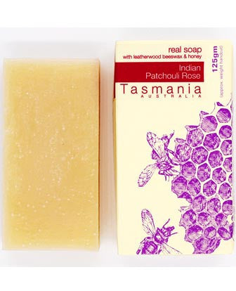 Honey Soap - India Patchouli Rose with Leatherwood Beeswax 蜂蜜梘 - 印度廣藿香玫瑰革木蜂蠟