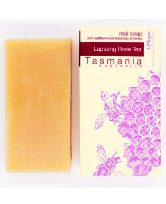 Honey Soap - Lapsang Rose Tea with Leatherwood Beeswax 蜂蜜梘 - 澳洲紅茶革木蜂蠟