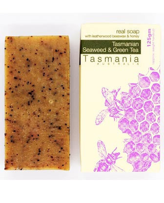 Honey Soap - Tasmanian Seaweed & Green Tea with Leatherwood Beeswax 蜂蜜梘 - 塔斯曼尼亞海藻綠茶革木蜂蠟