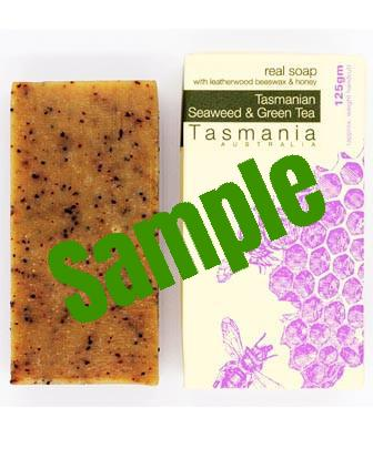 Sample Honey Soap - Tasmanian Seaweed & Green Tea with Leatherwood Beeswax 蜂蜜梘 - 塔斯曼尼亞海藻綠茶革木蜂蠟