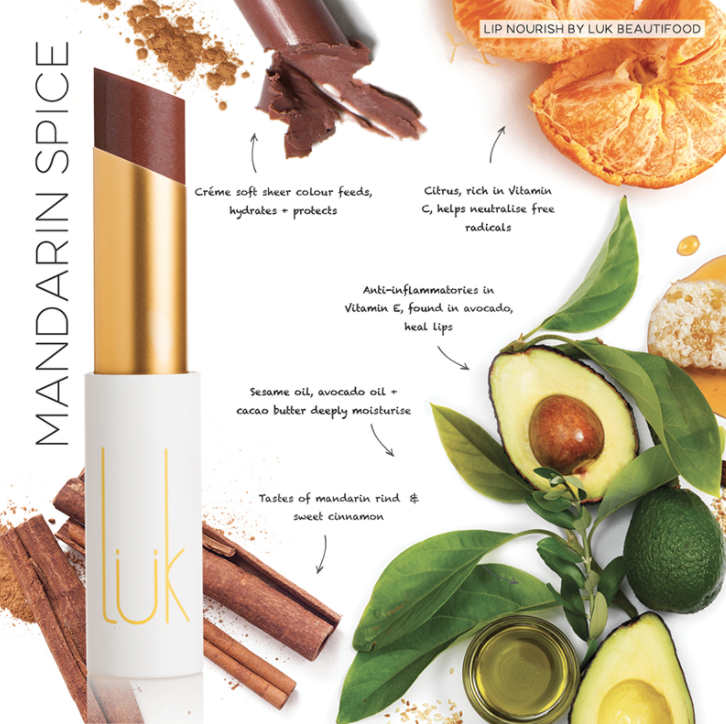 Lip Nourish Mandarin Spice Natural Lipstick 天然亮澤滋潤唇彩 - 橘柑香料