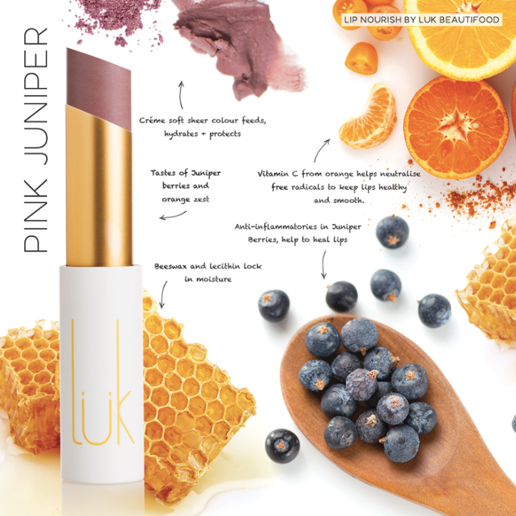 Lip Nourish Pink Juniper Natural Lipstick 天然亮澤滋潤唇彩 - 粉紅松柏果