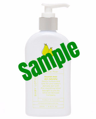 Sample - Olive Oil - Baby Lotion - Pear Scent 橄欖油 - 香梨味嬰兒潤膚乳液