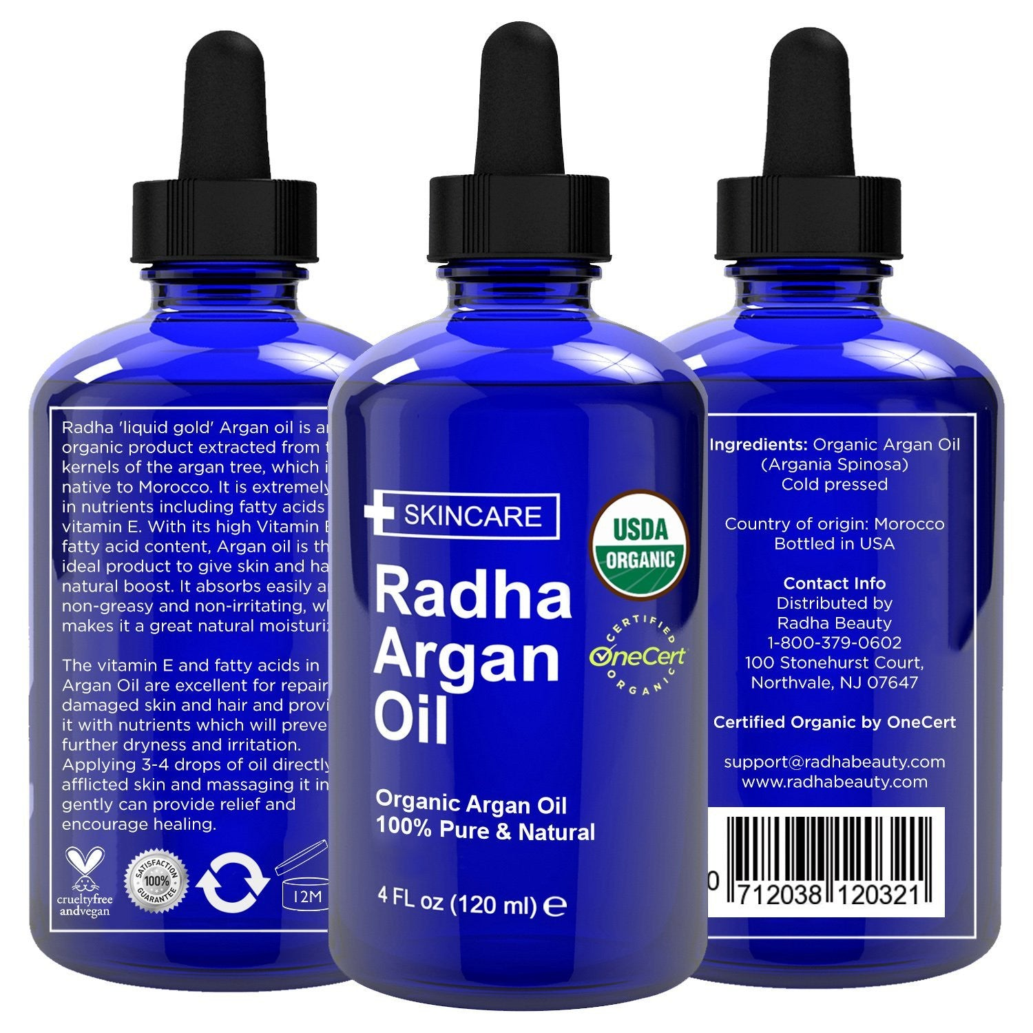 Argan Oil - 100% Pure Cold Pressed Certified Organic from Morocco 100%純正有機冷壓摩洛哥堅果油