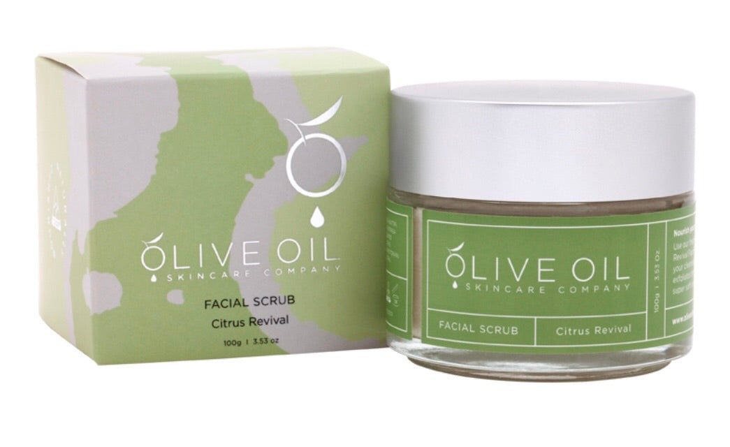 Olive Oil - Face Scrub Citrus Bloom *NEW* 橄欖油面部磨砂 - 清新柑橘