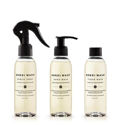 Bondi Wash - Mini Home Care Trio:Bench Spray, Hand Wash & Floor Wash (3x 125ml) 家居護理套裝﹕家居清潔劑、洗手液及地板清潔劑