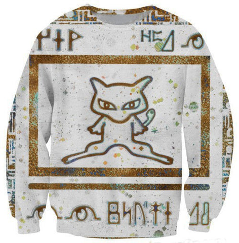Ancient Mew Limited Edition White Crewneck Sweater