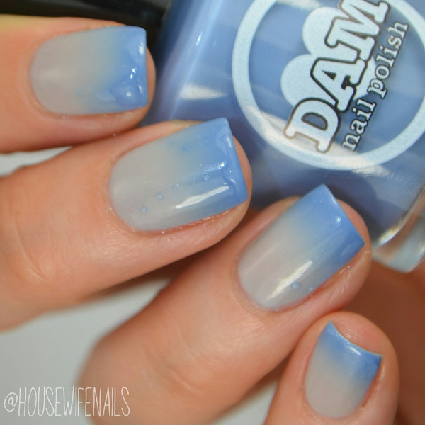 Cerulean Skies - Blue Thermal Nail Polish - Gray Thermal Nail Polish - Thermals - Dam Nail Polish