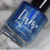 ...My Friend - Deep Blue Linear Holographic Polish - Remembering Robert Collection - Dam Nail Polish