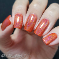 Obviously Orange - Seriously Rainbows - Holographic Nail Polish - Holographics - Dam Nail Polish