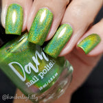 Gotta be Green - Seriously Rainbows - Holographic Nail Polish - Dam Nail Polish