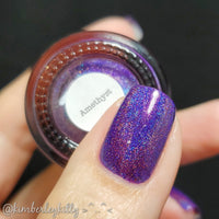 Amethyst - Violet Holographic Polish - Gemstone Collection Pt. 1
