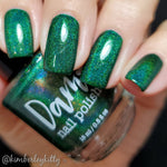 Emerald - Green Holographic Polish - Gemstone Collection Pt. 2 - Dam Nail Polish