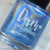 Believe Me Its Blue - Seriously Rainbows - Holographic Nail Polish - Dam Nail Polish