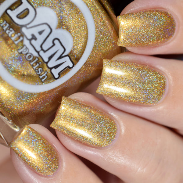 Holo Can You Gold? - Gold Holographic Nail Polish - Holographics - Dam Nail Polish