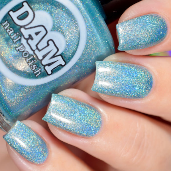Sleepy Holo - Blue Holographic Nail Polish - Holographics - Dam Nail Polish