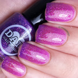 Dear Fuchsia Husband - Purple Thermal Nail Polish - Pink Thermal Nail Polish - Glitter Nail Polish - Dam Nail Polish