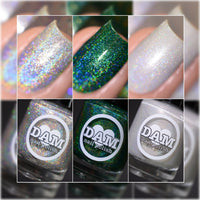 *Gemstone Collection Pt. 2 - Birthstone Holographic Polish Collection - Holographics - Dam Nail Polish