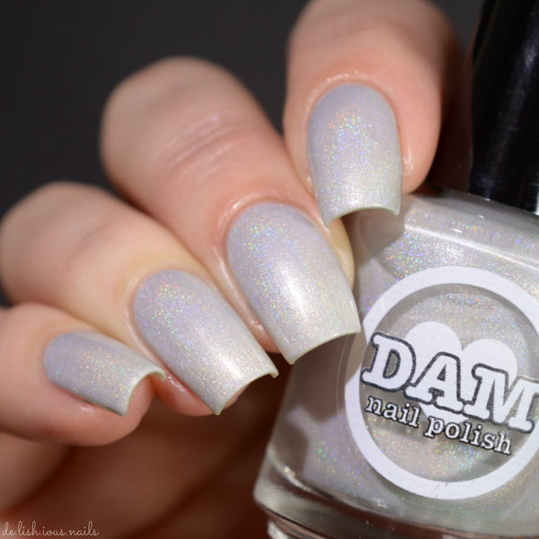 Pearl - Gemstone Collection Pt. 2 - Pearl White Holographic Polish - Holographics - Dam Nail Polish