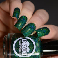 Emerald - Green Holographic Polish - Gemstone Collection Pt. 2 - Holographics - Dam Nail Polish
