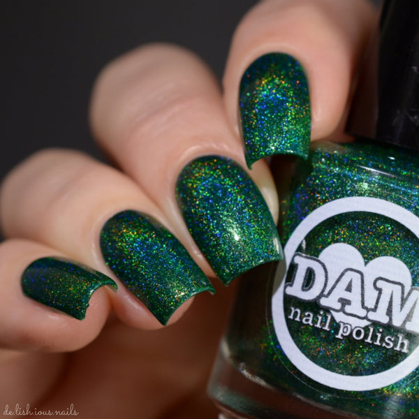 Emerald - Gemstone Collection Pt. 2 - Green Holographic Polish - Holographics - Dam Nail Polish