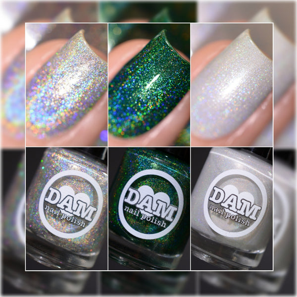 Gemstone Collection Pt. 2 - Holographic Polish Collection - Holographics - Dam Nail Polish
