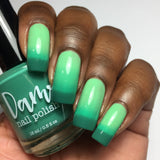 Grasshopper - Dark Green - Light Green Thermal - Cocktail Party - Thermals - Dam Nail Polish