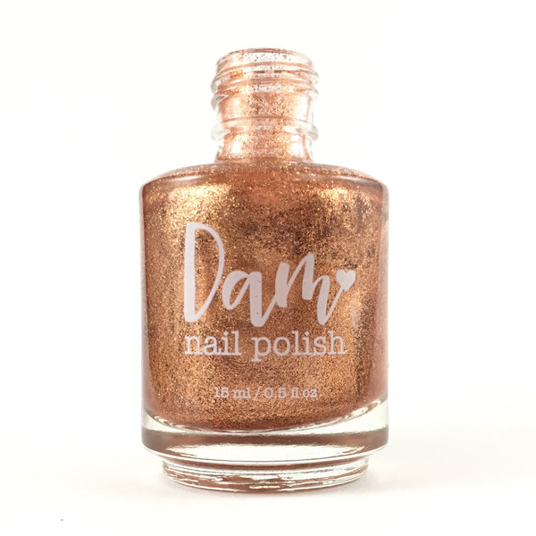 Take a Penny - Copper Metallic Nail Polish - Precious Metals Collection - Metallic Flake - Dam Nail Polish