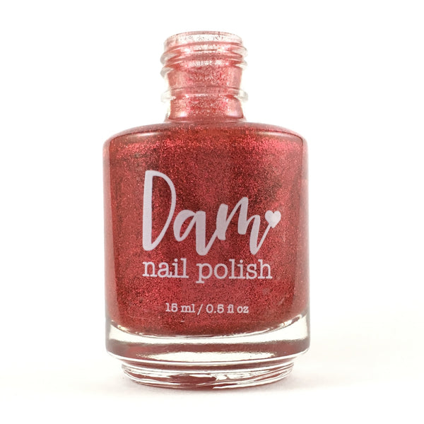 WineNot? - Red Metallic Nail Polish - Precious Metals Collection - Metallic Flake - Dam Nail Polish