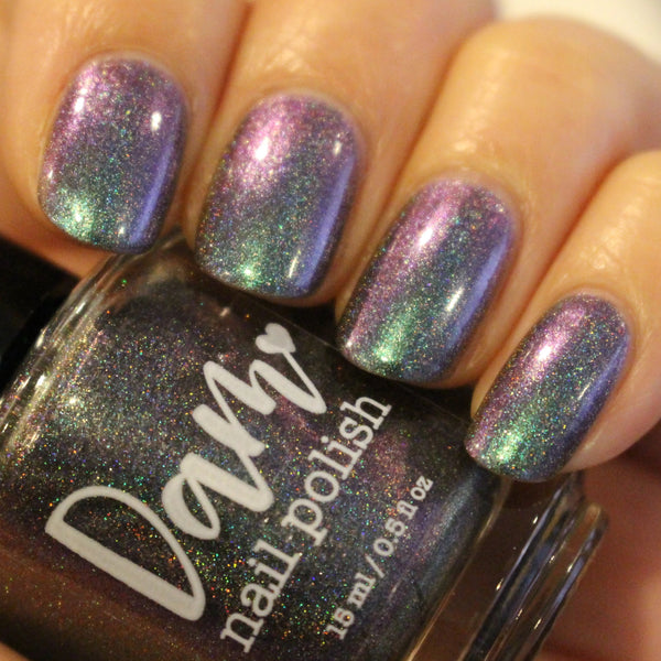 Galaxy Jam Sammich - Purple Green Multichrome Holographic Polish - Holochrome Collection - Holographics - Dam Nail Polish