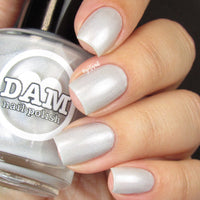 Pearl - Pearl White Holographic Polish - Gemstone Collection Pt. 2 - Dam Nail Polish