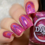 Garnet - Red Pink Holographic Polish - Gemstone Collection Pt. 1 - Dam Nail Polish