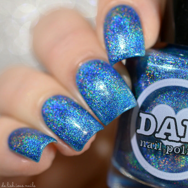 Aquamarine - Blue Holographic Polish - Gemstone Collection Pt. 1 - Holographics - Dam Nail Polish